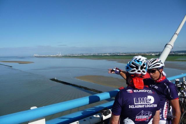 Sur le pont de Normandie