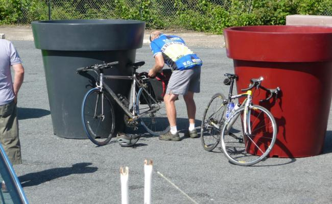 Jack is checking his bike  !!