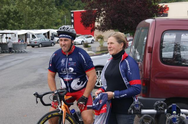 Marie-Elisabeth supporter au départ de la course