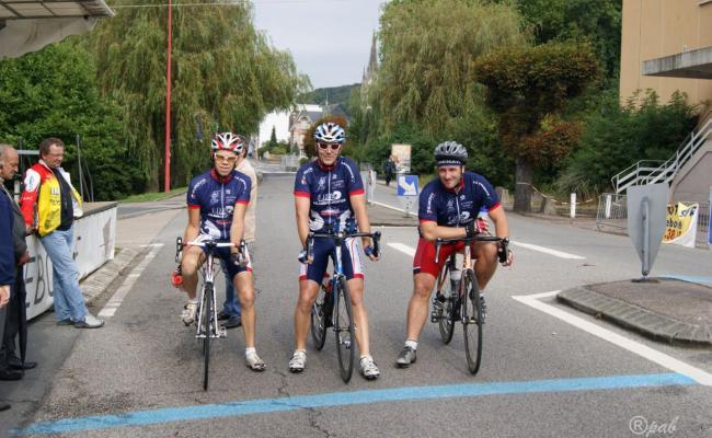 Denis, Olivier et Stephen sur la ligne de départ