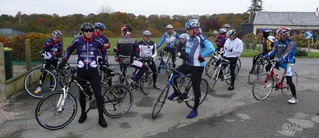 Fin de la montée de St Nicolas-de-la-Haie = Pose gaufrettes de Marcel
