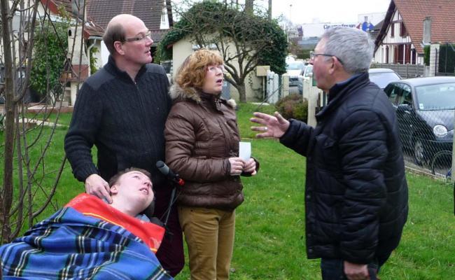 Julien, Mr & Mme Gallay et notre président