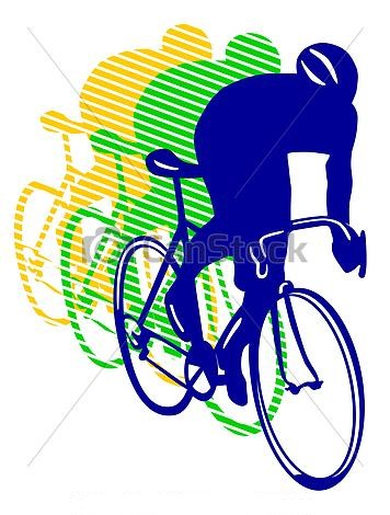 Bicyclette course clipart vecteur csp4023960